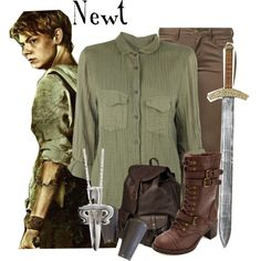 Maze Runner Newt by murphylovesturtles on Polyvore featuring Mode, Raquel Allegra, ONLY, Charlotte Russe, Jas M.B. and LeiVanKash