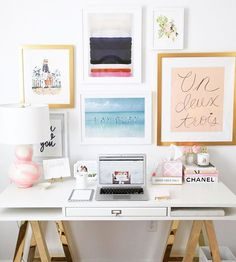 Head over the the Glitter Guide today and find office decorating and organization tips from Havenly and blogger @lemonstripes!