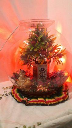 Fish bowl dry decoration