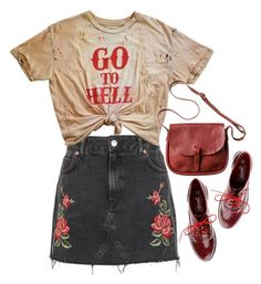 """""""I was a wicked one"""" by taryn-ash ❤ liked on Polyvore featuring Topshop, Timeless and Toast"""
