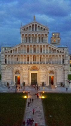 Evening view of the Cathedral in Pisa, ITALY