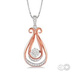 Shop our Lovebright Collection: Product Detail- Rose Gold Diamond Pendant