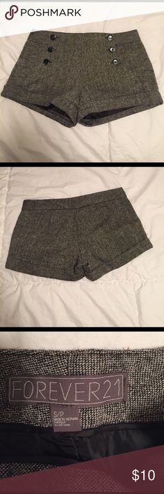 Gray high wasted shorts Great condition! Forever 21 Shorts