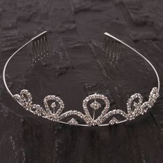 Charming Rhinestone Crown Headband