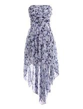Stylish Multi Color Strapless Pleated Sleeveless Womens Maxi Dress -No.1