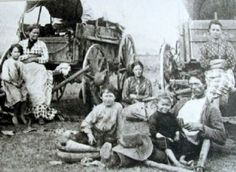 """This photo is in every Oregon trail/pioneer themed book I've ever read. Always listed as """"unknown pioneer family."""" I have stared at these faces, these clothes, these soul, for years. I'm happy to announce that this is the J.H. Byington Family, on their way to Utah, in 1870. Yeah!"""