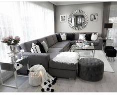 Thrilling Contemporary Decor Industrial Ideas 7 Outstanding Tips: Contemporary Lamp Chairs contemporary furniture kitchen. Living Room Decor Cozy, Living Room Grey, Living Room Sets, Home Living Room, Decor Room, Living Room Designs, Home Decor, Black White And Grey Living Room, Wall Decor