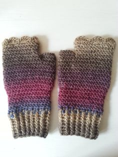 mitenki na szydełku, crochet mittens, video tutorial