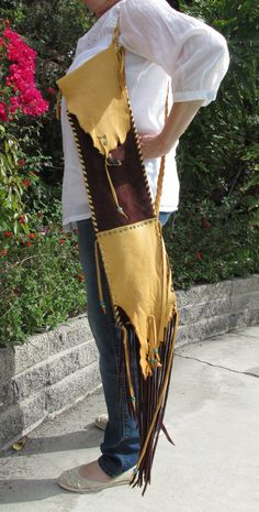 Native American Flute Leather Bag with by ResplendentLeather