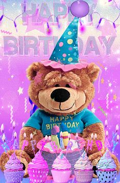 Birthday Qoutes, Birthday Greetings, Color Quotes, Happy Birthday Images, November 2019, Gifs, Teddy Bear, Free Apps, Balloons