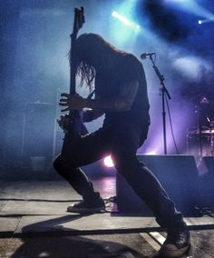 Rob of Death Angel in silhouette.  Awesome energy from these guys as always...