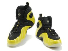 Nike Zoom Rookie Black Yellow,The side panel construction of Nike Zoom Rookie is similar to the Nike Air Flight One's and the toe box and swoosh was inspired by Nike Air Go LWP designs. The shoe sports a black and yellow appearance. With a yellow Foamposite upper alongside black nubuck and an icy outsole.