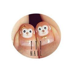 おさるのカップル🙈💕 #nail#art#nailart…