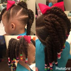 Beautiful easy hair style for daughters. hair Andrea Moore saved to Little girls. Beautiful easy h Easy Black Girl Hairstyles, Baby Girl Hairstyles, Natural Hairstyles For Kids, Kids Braided Hairstyles, Protective Hairstyles, Ponytail Hairstyles, Short Hair For Kids, Braids For Kids, Girl Short Hair