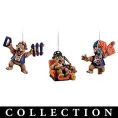"""Chicago Bears """"Grreatest Fans"""" Ornament Collection"""