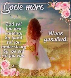 Goeie More, Girls Dresses, Flower Girl Dresses, Wedding Dresses, Goeie Nag, Afrikaans Quotes, Dresses Of Girls, Bride Dresses, Bridal Gowns