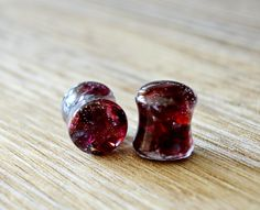 garnet Gauges Plugs double flare stone plugs stones plugs organic Plug 4g 2g 0g 00g 1/2 9/16 5/8 11/16 13/16 13/16 7/8 inch 15/16 1in 2in by JEWELRYandPLEASURE on Etsy