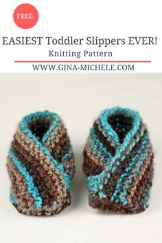 EASIEST Toddler Slippers Ever! Free knitting pattern