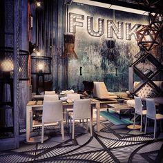 FUNK RESTAURANT Interior by Annis Lender, via Behance
