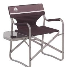 Coleman Aluminum Deck Chair with Side Table, Holds up to 225 lbs: Amazon.ca: Sports & Outdoors