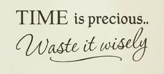 Time Is Precious... Waste It Wisely.