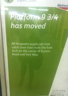 They can't move Platform 9 and 3/4