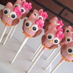 Owl Cake Pops by Raleigh Cake Pops #cakepops
