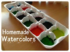 Simple recipe for making your own watercolors!