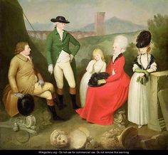 Group Portrait of Aubrey, 2nd Baron Vere of Harmsworth and family - Franciszek Smuglewicz. Cheltenham Art Gallery & Museums, Gloucestershire
