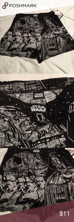 Star Wars size medium boxers! Star Wars size medium boxers! 100%cotton. Awesome gift for the Star Wars lover in your life! Smoke/pet free home! Disney Underwear & Socks Boxers