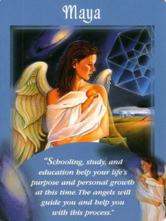 Maya Angel Card Extended Description - Messages from Your Angels Oracle Cards by Doreen Virtue Angel Readings, Psychic Readings, Doreen Virtue, Calling All Angels, Maya Art, Angel Protector, Free Tarot Reading, Free Reading, Angel Guide