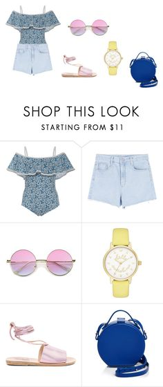 """Summer Girl"" by carvalhom on Polyvore featuring Karla Colletto, Kate Spade, Ancient Greek Sandals, Nico Giani, men's fashion and menswear"