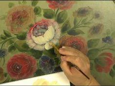 """Peinture Décorative : """"Le style Floral Français"""" par David Jansen - YouTube"""