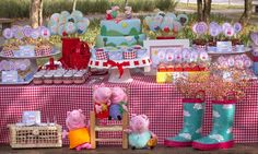 Decoração para festa de aniversário infantil - FESTA PEPPA