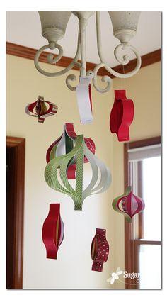Paper Strip Ornament Mobile ~ Sugar Bee Crafts