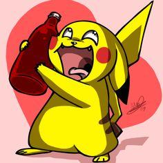 Pikachu Loves Ketchup :D