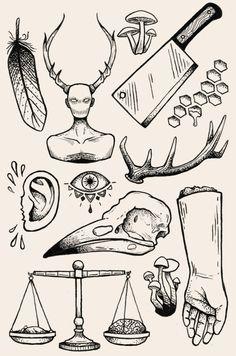 Hannibal-themed flash sheet
