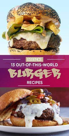 13 Out Of This World Burger Recipes - take your burger to the next level with these savory sandwich recipes : Essence Crazy Burger, My Burger, Good Burger, Cowboy Burger, Apple Recipes, Jam Recipes, Gourmet Recipes, Cooking Recipes, Cooking Tips
