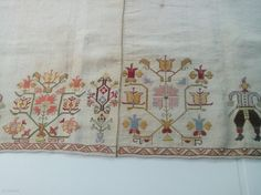 Greek embroidery from Skyros Island early Silk on linen. Folk Costume, Costumes, Ancient Greece, Cross Stitch Embroidery, Folk Art, Arts And Crafts, Traditional, Jewellery, Design