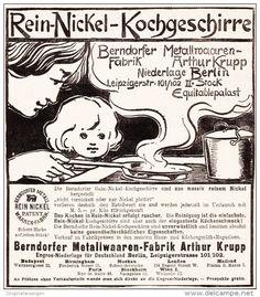 Original-Werbung/ Anzeige 1898 - BERNDORFER REIN-NICKEL KOCHGESCHIRRE ARTHUR…