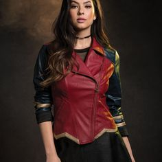 A limited edition fashion collection from DC and Her Universe. Plus size also available online // Her Universe DC Comics Wonder Woman Armor Faux Leather Jacket
