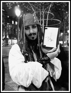 Met Johnny Depp in Paris ;p Jack Sparrow cosplay