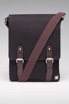 Block Canvas Crossbody Messenger Bag