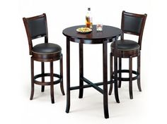 Chelsea Espresso High Back 2 Swivel Stools by Acme Furniture