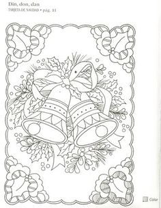 pergamano - Page 22 Free Christmas Coloring Pages, Coloring Book Pages, Printable Coloring Pages, Card Patterns, Embroidery Patterns, Christmas Colors, Christmas Crafts, Parchment Cards, Theme Noel