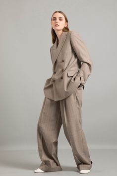 A/W Wool Pinstripe Double Breasted Jacket Wool Pinstripe Baggy Pants Double Breasted Jacket, Jumpsuit, Normcore, Wool, Pants, Jackets, Dresses, Style, Fashion