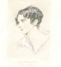 """Anna Beatrix Horton, the inspiration for Byron's """"she walks in beauty""""  (married to his cousin)"""