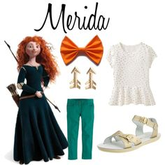 Merida Inspired Casual Girl Outfit