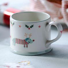 Hand Painted Christmas Mug - Rudolf
