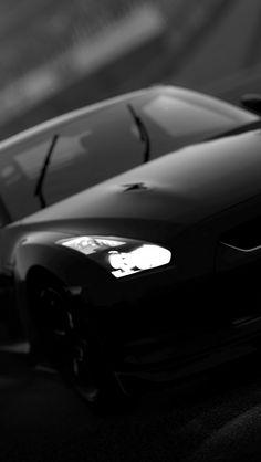 awesome 黒のスポーツカー iPhone5 スマホ用壁紙
